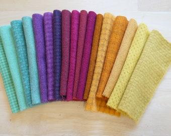 Teint à la main tissu de laine feutrée dans une belle Collection de couleurs un parfait Rug Hooking laine 3201B