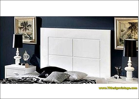 Cabecero blanco moderno, Cabecero cama 135 cm, Cabecero blanco cama 150 cm, Cabecero blanco, Cabecero blanco oferta, Cabecero cama grande