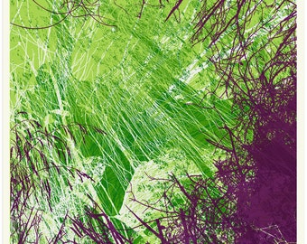 Green Tree Purple (One of a set of four)