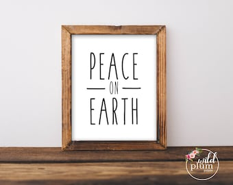 Peace on Earth Printable- Instant Download