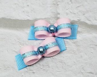 Small Dog Bows, Pink Dog Bows, Blue Dog Bows, Girl Dog Bows, Puppy Dog Bows, Dog Grooming Bows, Bows for Maltese, Bows for Yorkie