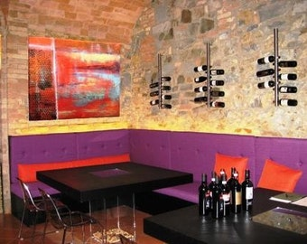Red Corrosion - Original - Abstract painting - DanielBrunosArts  ( 18'' x 24''  x1.5'' deep )