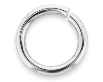 10 Pcs 9 mm Sterling Silver Open Jump Rings 18 Gauge Thickness (SS18GOJR09)