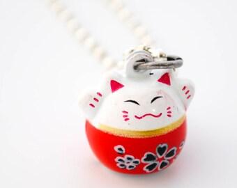Jingle Cat Necklace - Lucky Cat - Cat Lady Necklace