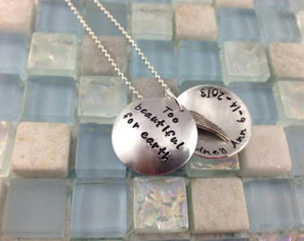 Hand stamped Hidden Message Locket - memorial jewelry - remembrance gift - necklace or keychain