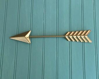 Gold Wall Arrow-Metal Wall Arrow - Arrow Wall Decor - Nursery Decor -Gallery Wall - Gold Wall Decor - Arrow Wall Hanging