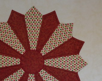 """Christmas Table Topper, LARGE, Round Table Centerpiece, Two Color Christmas Table Topper, Christmas, """"Christmas Baubles"""" Light"""