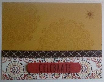 Handmade Celebrate Card, Handmade Birthday Card