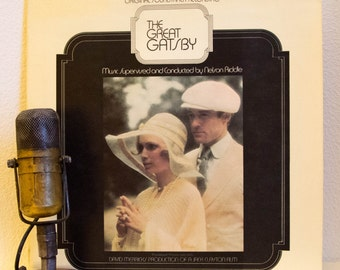 """The Great Gatsby, Original Soundtrack Recording 1970s film romance  """"The Great Gatsby""""  (1974 Paramount Records 2LP w/ """"It Had to Be You"""")"""