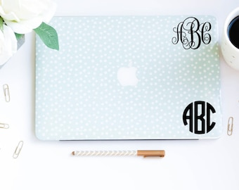 Monogram Computer Decal- Monogram Car Decal- Monogrammed Decal- Personalized Decal