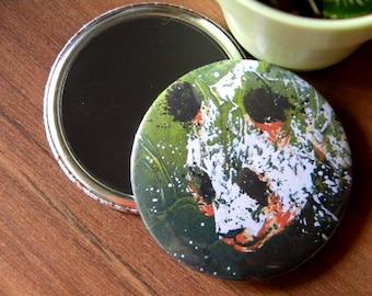 PANDA magnet / / animal / / magnet / / gift idea / / decor / / decor / / painting / / design / / original / / green / / head / / portrait / / China