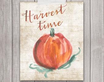 60% OFF SALE - Autumn Decor - 8x10 Fall Wall Art, Autumn Wreath, Harvest, Home Decor, Happy Autumn, Printable Art, Digital