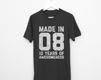 10th Birthday Shirt Tenth Ten Year Old