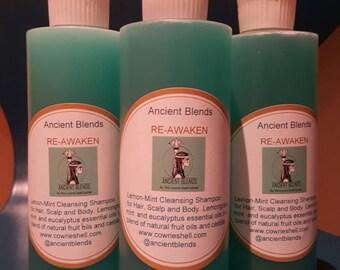 Ancient Blends RE-AWAKEN Lemon/Mint Cleansing Shampoo
