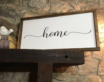 Home sign - Housewarming gift - Home sweet home - Home decor - Home sweet home sign - Wood sign - Farmhouse decor - Farmhouse sign - Rustic