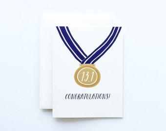 Half Marathon Card, Half Marathon Congratulations, Half Marathon Medal
