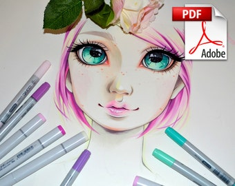 Lighane's Tutorials: Portrait Style - Pink Haired Girl