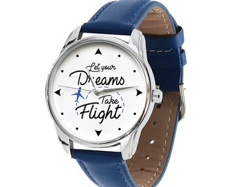 Let Your Dreams Take Flight Watch - Class of 2018 Motivational Graduation Gift