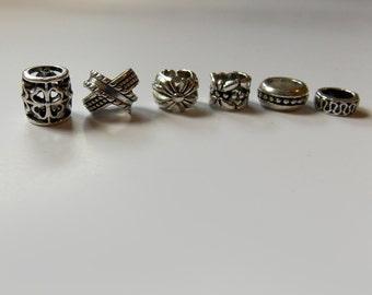 Hair Jewelry, loc Jewelry, Braid Jewelry, Celtic Dread Beads, Metal Dreadlock Beads, Dreadlocks, Assorted, Tibetan Silver, Hair Accessories