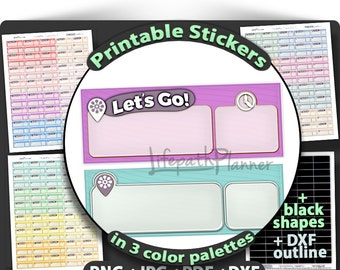 Event Stickers Printable Event planner stickers event stickers Printable Planner Stickers to use in Erin Condren Planner Stickers Printable