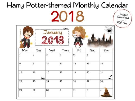 Calendar Design Wizard : Wizard calendar for wizards and harry potter fans