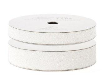 """Glitter Tape White - 3/8"""" or 5/8"""" x 3 yds - 100% Archival"""