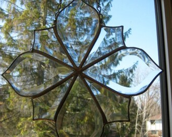 Stained Glass clear bevel cluster