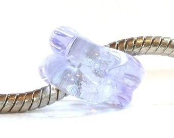 Blue Lavender Ice Big Hole Bead Fits All European Charm BHB Bracelets
