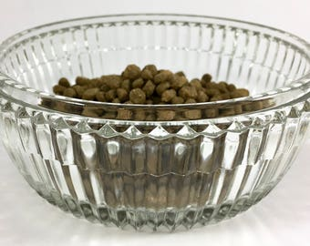 Pampered Pet Pressed Glass Faceted Glass Food Bowl | Food Dish | Cat Food Bowl | Dog Food Bowl | Water Bowl