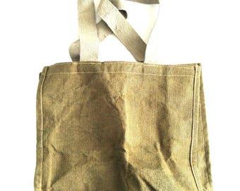 Extra Simple handheld green hemp shoulder tote