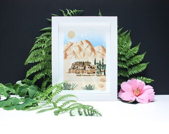 St Catherine's Monastery - Spiritual Places A4 or A3 Artists Print