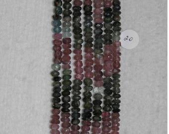 Tourmaline, Multicolor Rondelle, Faceted Rondelle, Tourmaline Bead, Semi Precious, Gemstone, Translucent, Strand, 5 mm, #20, AdrianasBeads