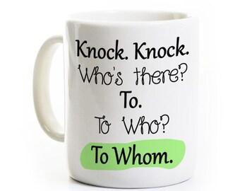 English Grammar Coffee Mug - Funny Teacher Mug -Writer Coffee Mug- Grammar Nazi Coffee Tea Gift - College gifts, Spelling Mistakes, Gag Gift