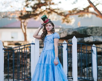 Alice in Wonderland Costume / Cosplay - Down the Hole Dress - 2010 Live Action Movie - Custom Size