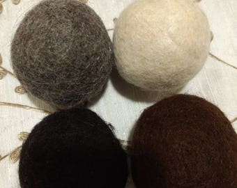 Alpaca Wool Dryer Ball Set-Quad