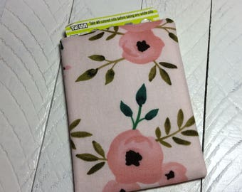 Birth Control Case - Pill Sleeve - Pill Cover - Travel Accessory - Pill Cozy - Posies Floral, Aztec Pink - Descreet for Your Bag
