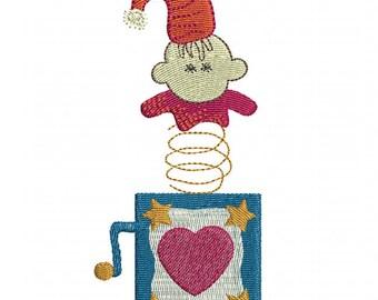 Jack in the Box - Machine Embroidery Design