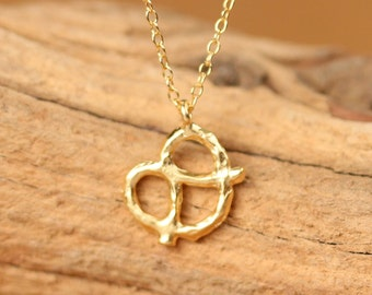Pretzel necklace, bff necklace, kawaii necklace, the perfect gift, silver pretzel necklace