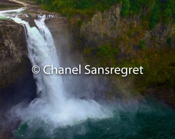 Snoqualmie Falls - Washington, Scenic Photography, Digital Download, Seattle, Outdoor, Waterfall