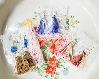 Multi-Color | Handmade | Tassel Earrings