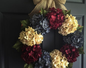 Patriotic Wreath | 4th of July Wreath | Americana Decor | Fourth of July Wreath | Memorial Day Wreath Decor | Wreath | Front Door Wreaths