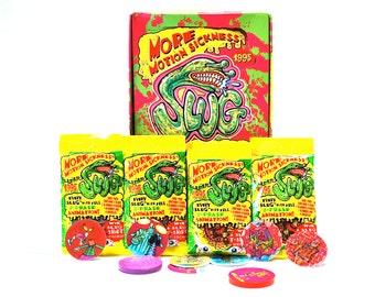 4 Slug Pog Packs With Slammer & Slammer Stickers
