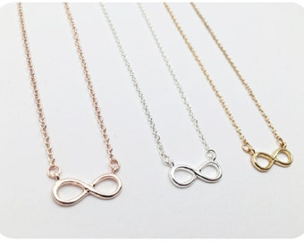 Infinity Necklace SILVER, Eternity Love, Gift Idea, Necklace as a GIFT