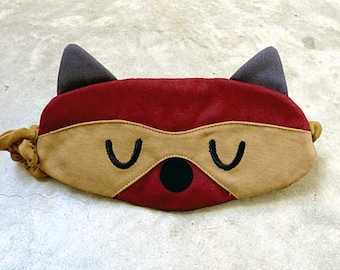 Raccoon Sleep Mask Raccoon Eye Mask Raccoon Sleeping Eyemask Mask Eye Cover Eye Shield Raccoon Costume Cosplay Mask Blindfold Sleep Eye Mask