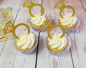 Bague de fiançailles Cup Cake Toppers