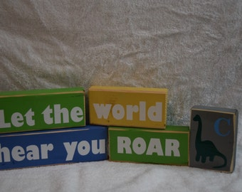 Baby gift! Nursery decor! Let the World Hear You Roar