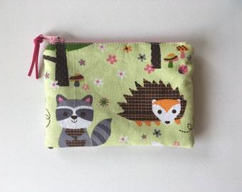 Coin purse, forest friends change purse
