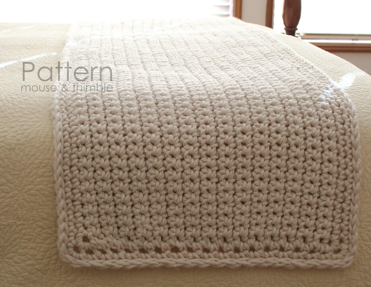 Bulky Bed Runner (Full, Queen, King) / Beginner Crochet PATTERN ...