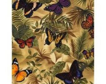 Cotton Fabric Quilting Burterflies  April in Paris