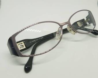 6418140f9372 Vintage New Old Stock Fendi Eyeglasses Frames Mod.F707 DEMO LENSES